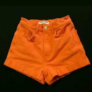American Apparel high rise waist cuffed shorts